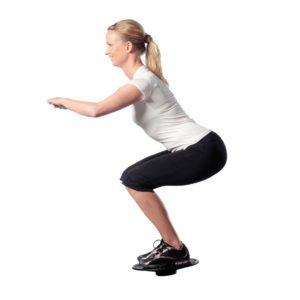 squat con balance board